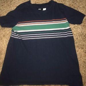 striped navy shirt